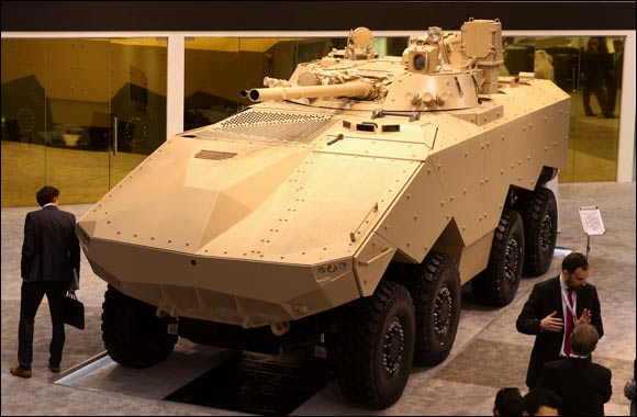 "Emirates Defense Technology Unveils its New 8x8m Armored Modular Fighting Vehicle ""Enigma"""