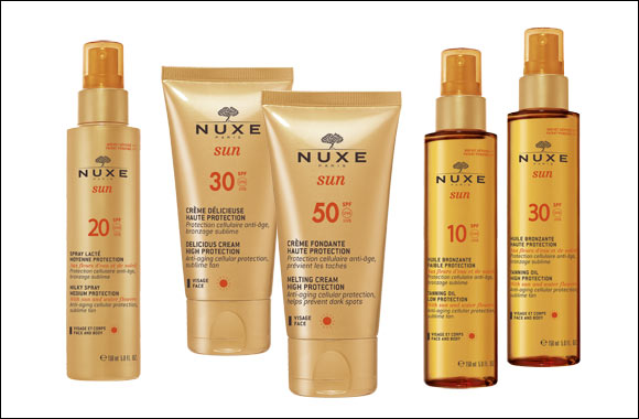 NUXE launches  NUXE Sun®, their first sun care line that teams ideal protection with total glamour!