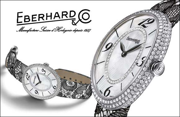 A sparkling new look and a touch of sensuality for the new ladies watch created by Eberhard & Co.: Gilda Grand Pavé