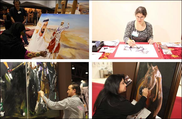 Artists unveil works capturing elegance and majesty of horses at dubai international horse fair