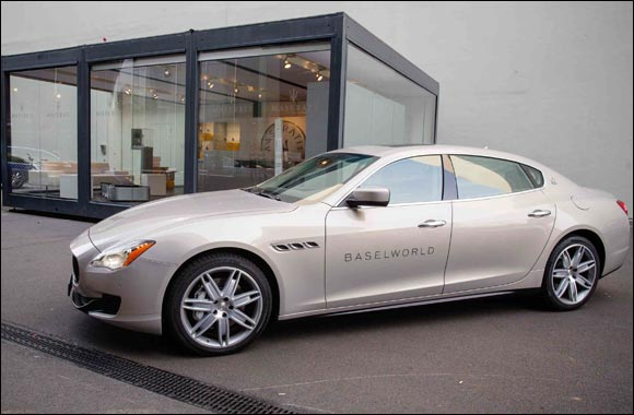 Maserati is the Official Car Partner for BASELWORLD 2015