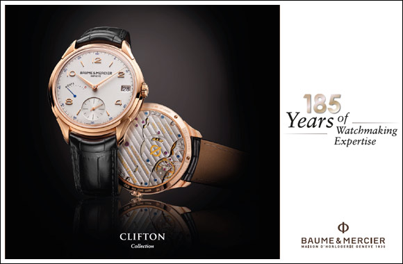 A watch symbol to celebrate Baume & Mercier's 185 years of expertise