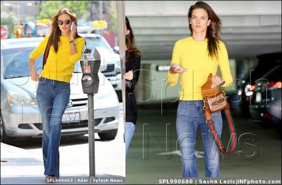 Armani Exchange Style Alert - Alessandra Ambrosio wears Armani Exchange