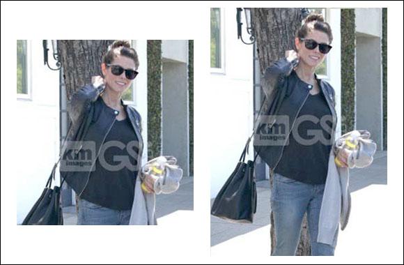 Armani Exchange Style Alert: 'Twilight' Starlet Ashley Greene spotted wearing an Armani Exchange Leather Jacket