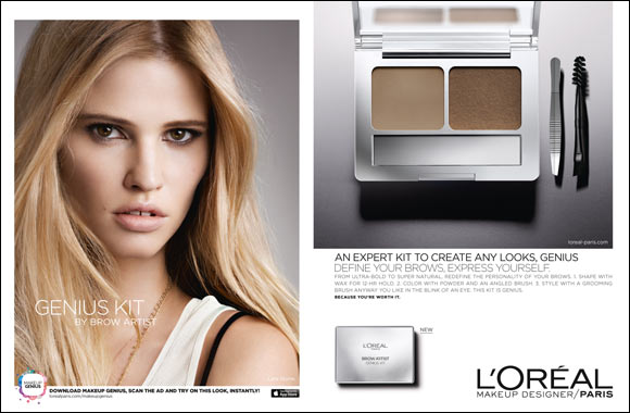 The stylish guide to well groomed brows: introducing the Brow Artist Genius Kit, only from L'Oréal Paris