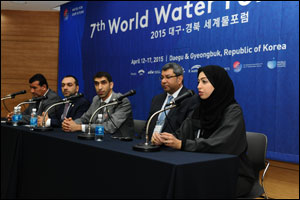 UAE Delegation Briefs International Media on Country's Water Initiatives at 7th World Water Forum