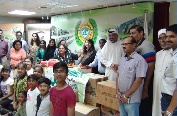 "Youth group ""Students for the Earth"" shows humanity at ""Human Appeal International"""
