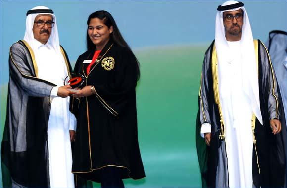 Dubai Student stands tall winning her third Hamdan Award and making a score of five National Academic Awards