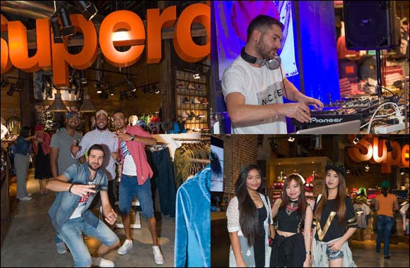 Superdry hosts an exciting, fun-filled in-store event at the brand's boutique in the Dubai Mall
