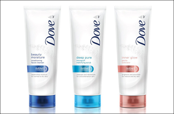 Dove facial wash cream that