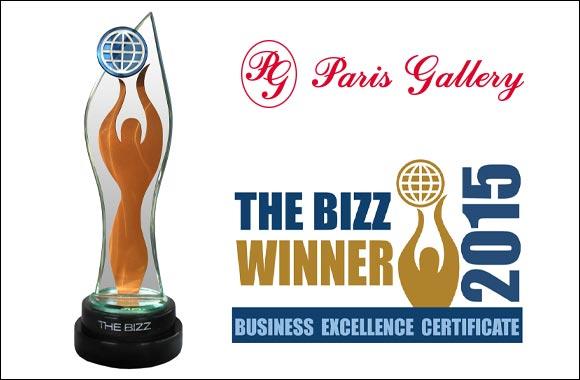 Paris Gallery awarded the BIZZ European 'Beyond Success' Award